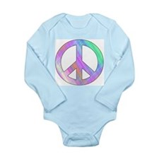 Pastel Peace Long Sleeve Infant Bodysuit