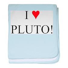 I <3 Pluto baby blanket