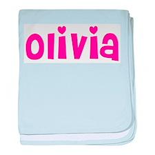 Olivia baby blanket