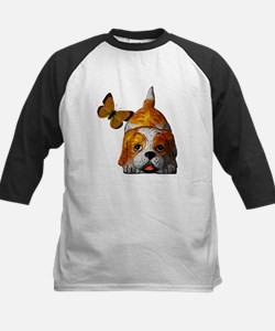 Pup and Butterfly Kids Baseball Jersey