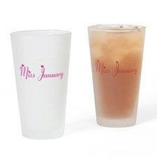 Miss January *PINK* Drinking Glass