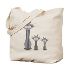 Cute Gray Kitty Cats Tote Bag