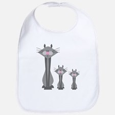Cute Gray Kitty Cats Bib