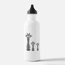 Cute Gray Kitty Cats Water Bottle