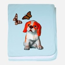 Pup and Butterfly's baby blanket