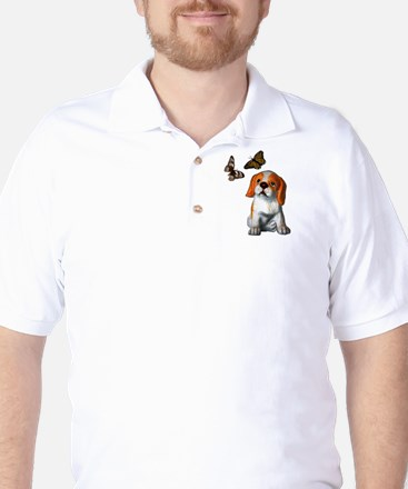 Pup and Butterfly's Golf Shirt