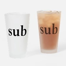 sub Drinking Glass