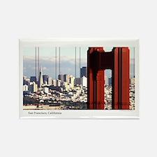 SF Thru Golden Gate Rectangle Magnet