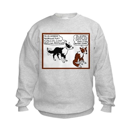 Red Border Collie Kids Sweatshirt