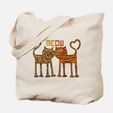 Cute Meow Cats Tote Bag