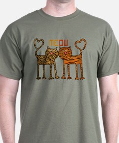Cute Meow Cats T-Shirt