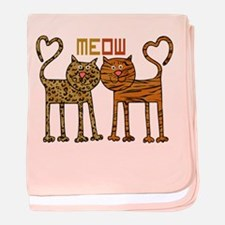 Cute Meow Cats baby blanket
