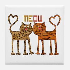 Cute Meow Cats Tile Coaster