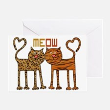 Cute Meow Cats Greeting Card