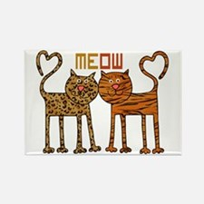 Cute Meow Cats Rectangle Magnet
