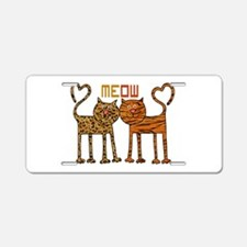 Cute Meow Cats Aluminum License Plate