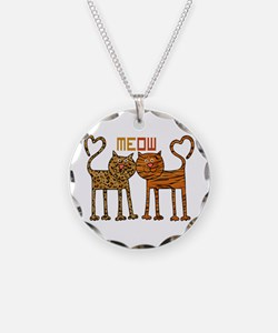 Cute Meow Cats Necklace