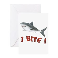 Shark - I Bite - Greeting Card