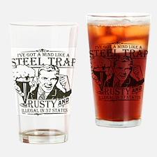 Steel Trap Drinking Glass