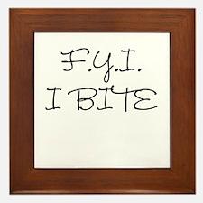 F.Y.I. I Bite Framed Tile