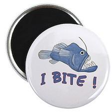 Piranha - I Bite! (blue) Magnet