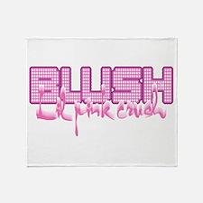 Lil Pink Crush Blush White Throw Blanket