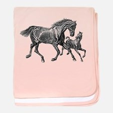 Beautiful Mare and Foal baby blanket