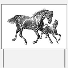 Beautiful Mare and Foal Yard Sign