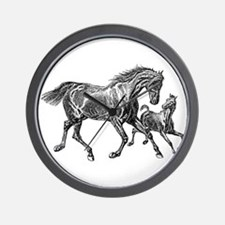 Beautiful Mare and Foal Wall Clock