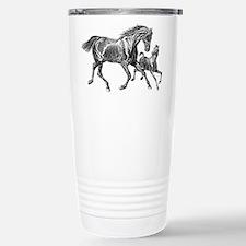 Beautiful Mare and Foal Travel Mug