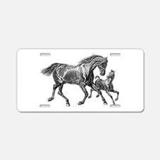 Beautiful Mare and Foal Aluminum License Plate