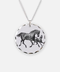 Beautiful Mare and Foal Necklace