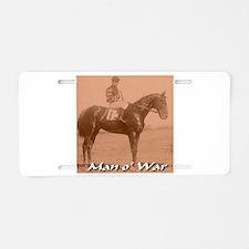 Man o' War Aluminum License Plate