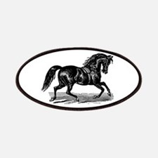 Shiny Black Stallion Horse Patches