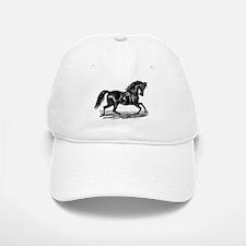Shiny Black Stallion Horse Baseball Baseball Cap