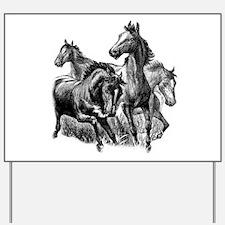Wild Horses Yard Sign