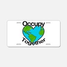 Occupy Together Aluminum License Plate