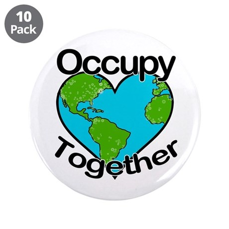 """Occupy Together 3.5"""" Button (10 pack)"""