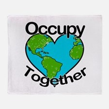 Occupy Together Throw Blanket