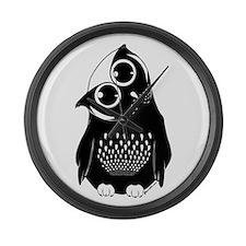 Curious Owl Large Wall Clock