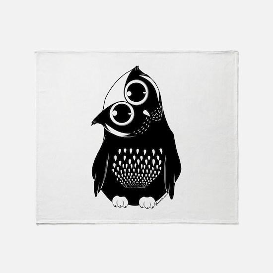 Curious Owl Throw Blanket