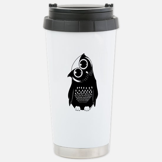 Curious Owl Stainless Steel Travel Mug
