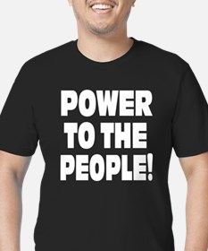 POWER: Men's Fitted T-Shirt (dark)