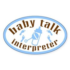 """Baby Talk"" Oval Decal"