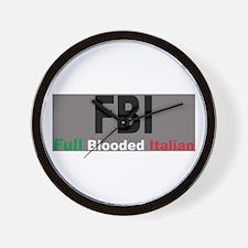FBI Full Blooded Italian Wall Clock