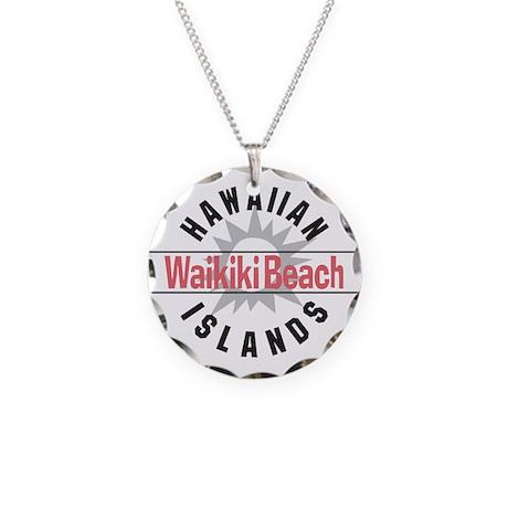 Waikiki Beach Necklace Circle Charm