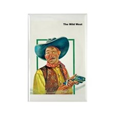 Wild West Another Notch in His Gun Rectangle Magne