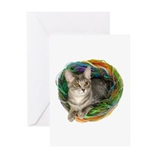 Kitten Yarn Greeting Card