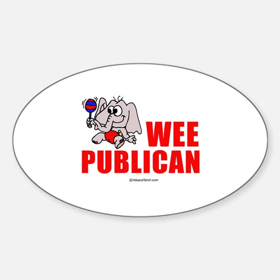 Wee publican - Oval Decal