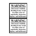 Bible Disclaimer Sticker (2 stickers in 1)